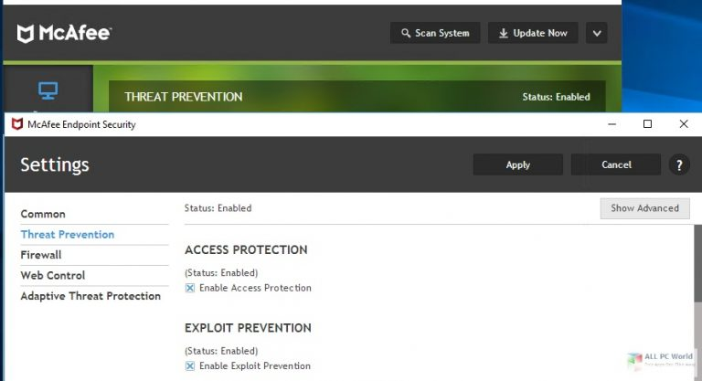 McAfee Endpoint Security 10
