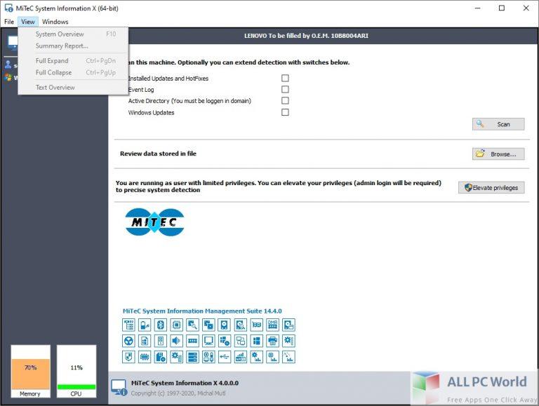 MiTeC System Information Free Download