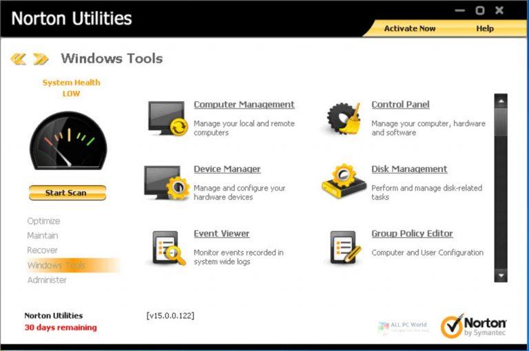 Norton Utilities Premium 21