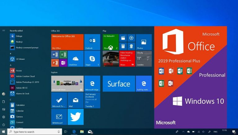 Windows 10 Pro With Office 2019 ISO Free Download