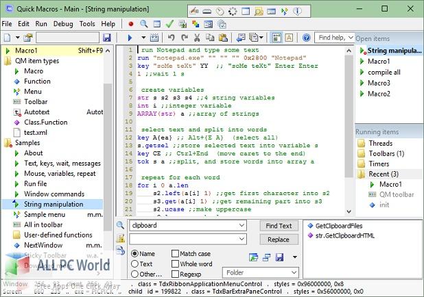 Quick Macros 2 Free Download