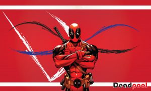 Cool Wallpaper with Deadpool cartoon character