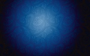 Artistic blue pattern background with Modern batik motive