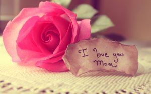 Free Happy Mothers Day Quotes with Pink Rose Flower
