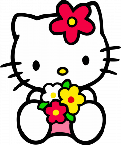 Attachment File for Hello Kitty PNG ClipArt with Flower - 1330x1600