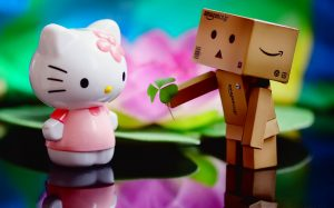 Attachment for 37 Cute Stuff Wallpapers - Hello Kitty and Danbo