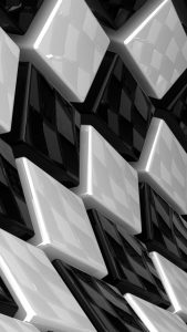 3D cubes white and black iphone 7 background