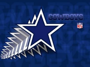 Animated Dallas Cowboys Logo with Blue Stars and NFL Logo