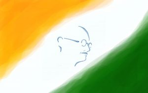 Flags of Countries - Three colors as Flags of India Symbol - Mahatma-Gandhi