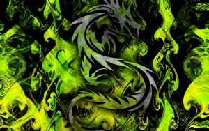 Attachment picture for high resolution desktop pictures with cool green tribal dragon