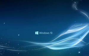 attachment file of Windows 10 wallpaper in abstract with blue stars and waves