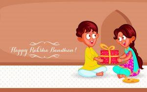 Free Download of Rakhi Wallpaper in Cartoon for Wallpaper