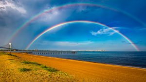 Double Rainbow in Staten Island South Beach