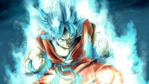 Son Goku Super Saiyan Blue for Wallpaper