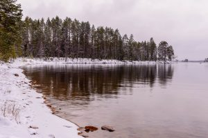 Picture of Korpuajärvi Lake in North-Eastern Finland for Winter Wallpaper