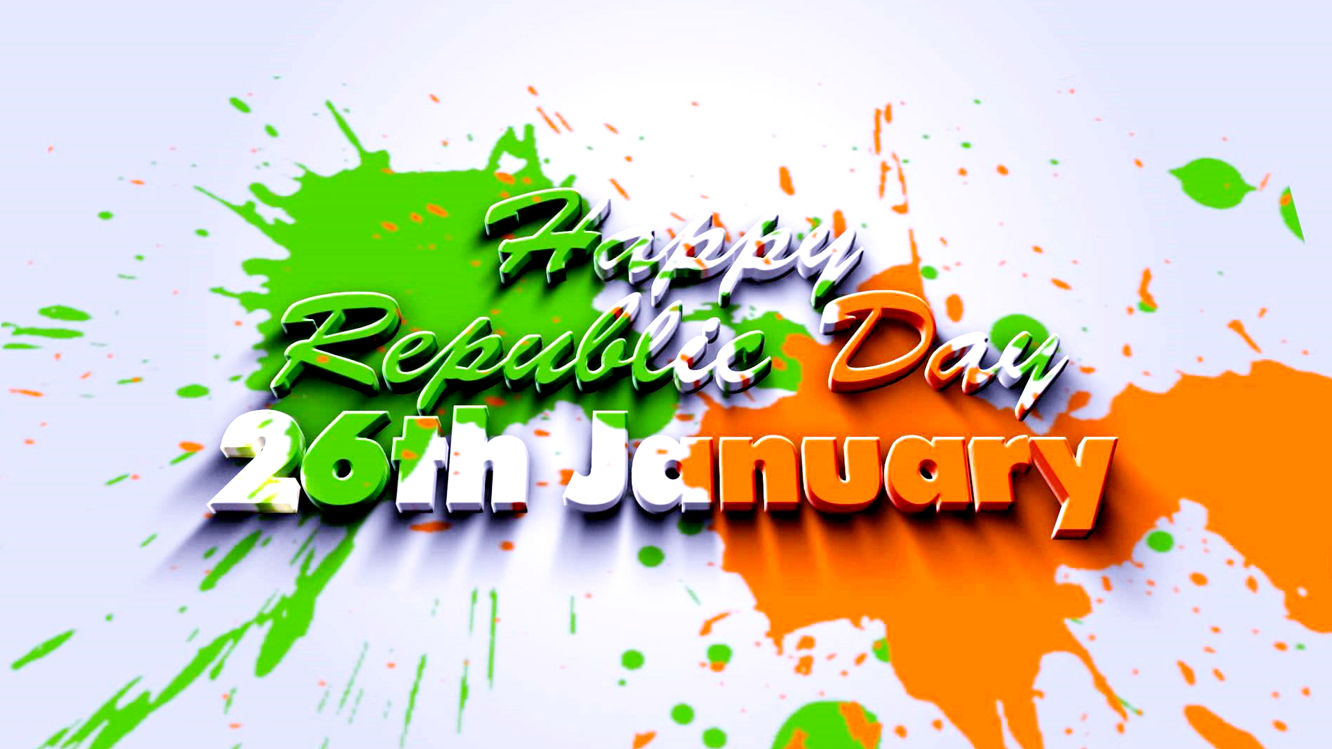 Republic Day 2017 Wallpaper with Abstract Tricolor - 4 Best Happy Republic Day Poetry in English