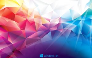 Abstract Windows 10 Background - Colorful Polygons