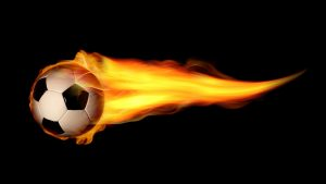 Pictures of Soccer Balls with Flames in HD
