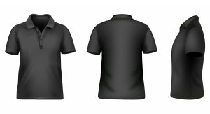Blank tshirt template for Photoshop in black
