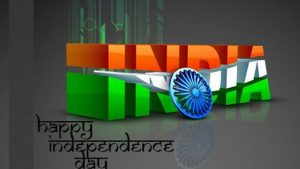 Free Download of 3D India Text for Independence Day Wallpaper in HD