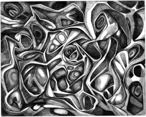Abstract Art Using Pencil 02 0f 10
