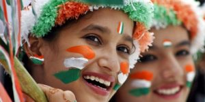 Flags of Countries - Three colors as Flags of India Symbol with accessories in Girls