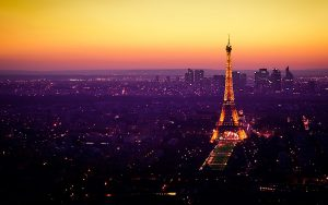 Laptop Background Ideas with Eiffel Tower at Night