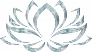 Silver Lotus Flower Symbol for Wallpaper