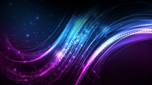Abstract Art Using Lines in Blue and Purple