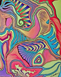 Examples Of Abstract Art Drawings with Colored Pencil