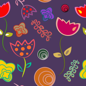 Large Print Wallpaper Floral Funky