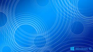 Windows 10 Wallpaper Blue Circles with Logo