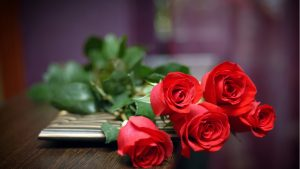 Pictures of Red Roses as Hand Bouquet Flower