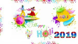 Holi Wallpaper 2019 with Abstract Colorful Hands