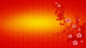 Red Chinese Wallpaper Designs 07 of 20 with Flowers