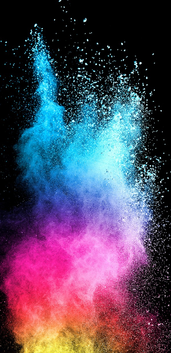 Abstract Colorful Powder with Dark Background for Samsung ...