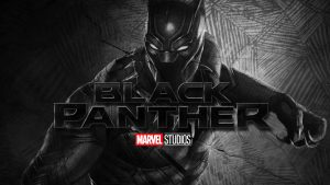 Black Panther Wallpaper with Marvel Studios Logo
