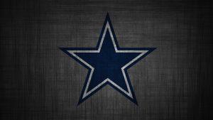 Dallas Cowboys Logo Wallpaper in HD 1080p with Dark Grey Pattern