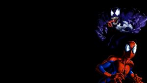 Venom and Spider-Man Cartoon Wallpaper