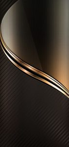 OnePlus 6 Background with Dark Gold Elegant Wallpaper