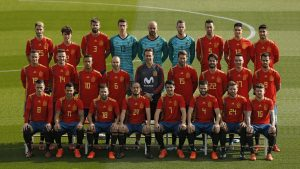 Spain Football Team 2018 with Home Jersey for World Cup