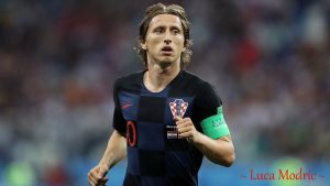 Luka Modric in FIFA 2018 Russia World Cup with Croatian National Team Jersey for Desktop Wallpaper