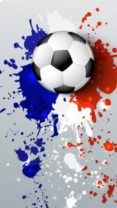 Soccer Wallpaper with Abstract France Flag Colors