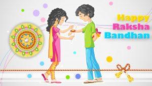 Cartoon Version for Happy Raksha Bandhan