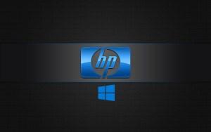 Windows 10 OEM Wallpaper for HP Laptops 05 0f 10 Dark Background with 3D Logo