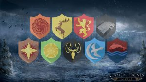 Game of Thrones Wallpaper 12 of 20 - 9 Sigils Logo with GOT Background