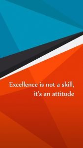 Motivational Wallpapers for Mobile about Excellence