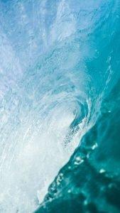 Beach Wallpaper for iPhone 8 - 09 - Inside Blue Wave