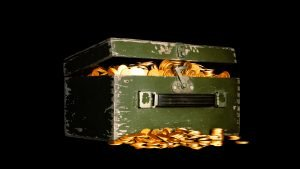 Money Wallpaper 18 of 27 – Money Box Pictures - wooden chest with golden coins