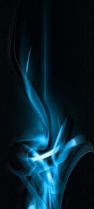 Dark Background with 3D Lights for Samsung A51 Wallpaper - 04 of 10 - Blue Light and Honeycomb Pattern